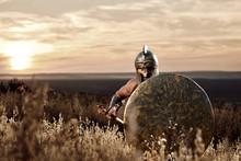Soldier Like Spartan In Bronze...