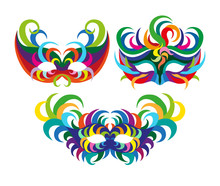 Carnival Masks With Feathers, ...