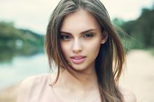 Beautiful Girl Face Close Up