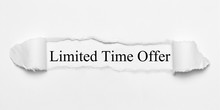 Limited Time Offer On White To...