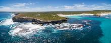 Hanson Bay Coastline Aerial Panorama. Kangaroo Island, South Australia