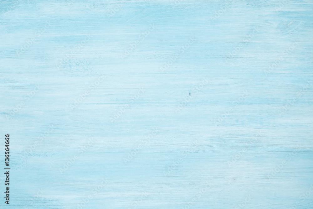 Fototapeta Light blue abstract wooden texture background image
