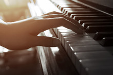 Musician Start To Play Piano