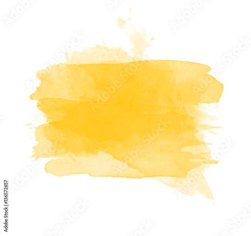 Fotografie, Obraz  Orange watercolor splash vector