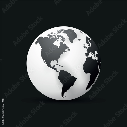 Black earth globe world map design america buy this stock vector black earth globe world map design america gumiabroncs Image collections