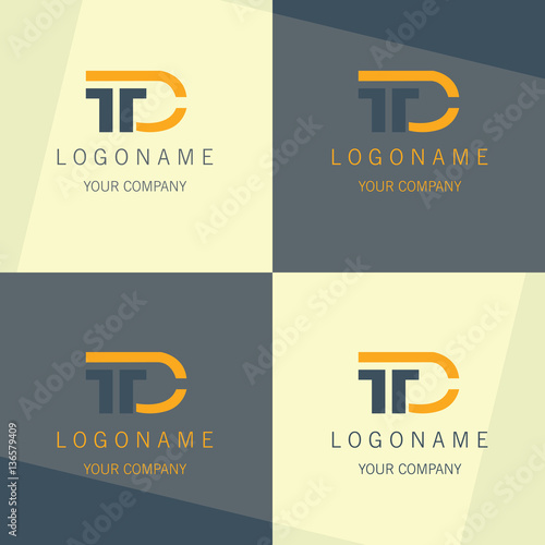 T D Business Symbol Logo Buy This Stock Vector And Explore Similar