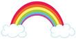Regenbogen mit Wolken Vektor-Illustration