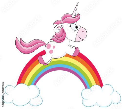 regenbogen unicorn ausmalbilder einhorn  ausmalbild