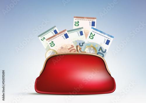 Fotografía  Porte monnaie - billets - consommation - économie
