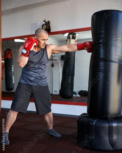 Kickbox fighter training Wallpaper Mural
