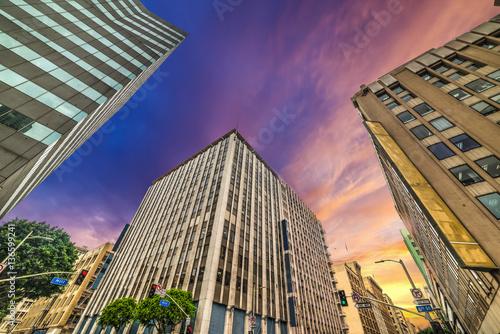 Keuken foto achterwand Los Angeles Buildings in downtown Los Angeles