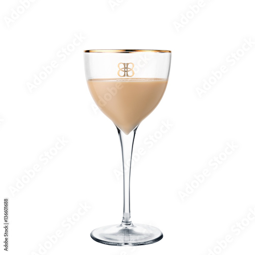 alcohol cocktail Baileys isolated on white background Canvas Print
