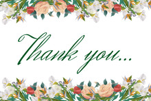 Thank You - Floral Vintage Abs...