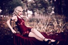 Beautiful And Elegant Blonde W...