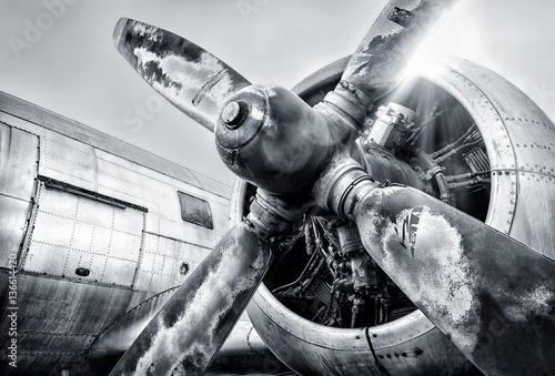 engine of an aircraft Fototapeta