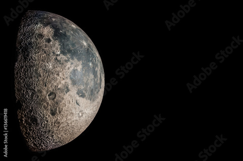Photo  The Moon, an astronomical body that orbits planet Earth