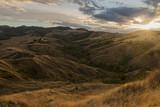Italian hills at sunset - 136620094