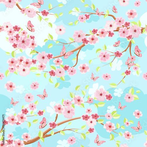 blekitne-niebo-z-galezi-kwiat-wisni-bezszwowa-tekstura-dla-f