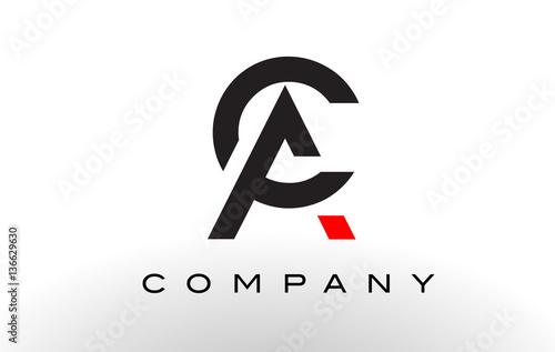 AC Logo.  Letter Design Vector. Wallpaper Mural