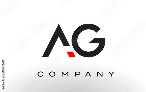 AG Logo.  Letter Design Vector. Wallpaper Mural