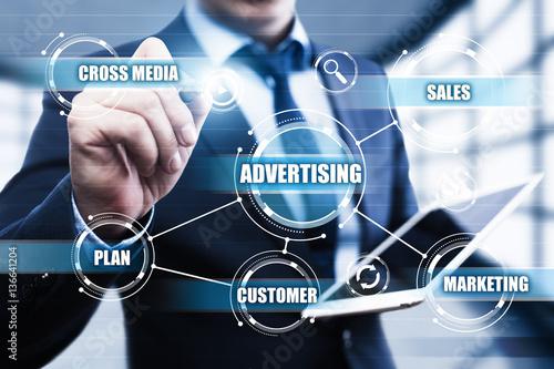 Photo Advertising Marketing Plan Branding Business Technology concept
