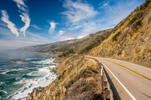 Highway 1 On The Pacific Coast...