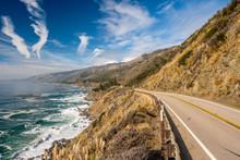 Highway 1 On The Pacific Coast, California, USA.