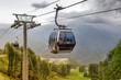 Cableway in the mountains at a ski resort