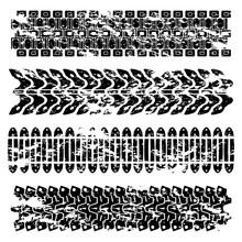 Grunge Tank Tire Tracks