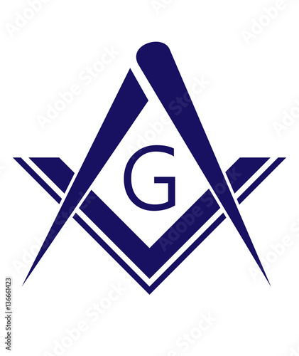 freemason symbol Tablou Canvas