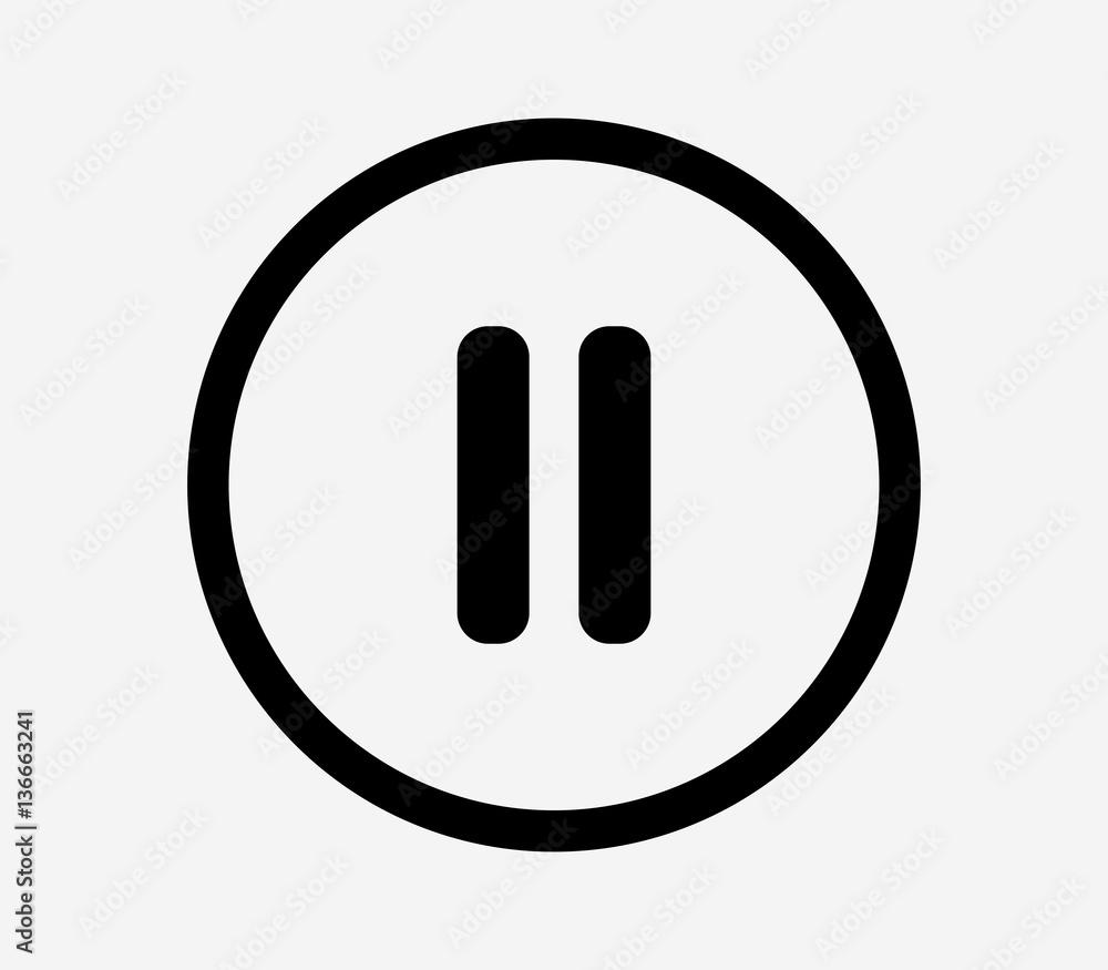 Fototapeta pause music icon