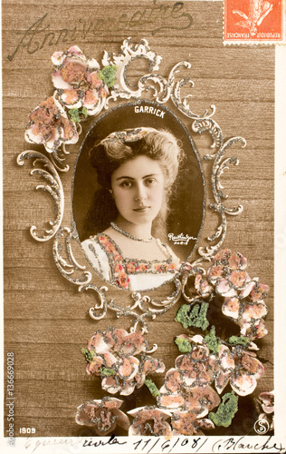 Carte Postale Ancienne Joyeux Anniversaire Buy This Stock Photo And Explore Similar Images At Adobe Stock Adobe Stock
