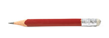 Well Worn Red Pencil Isolated