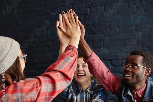 Fotografía  Teamwork and success concept