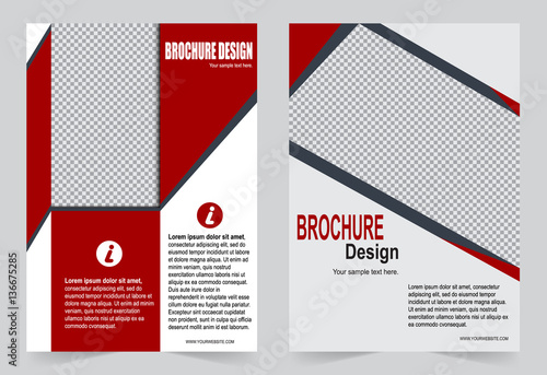 Red Brochure Template Flyer Design Buy This Stock Vector And