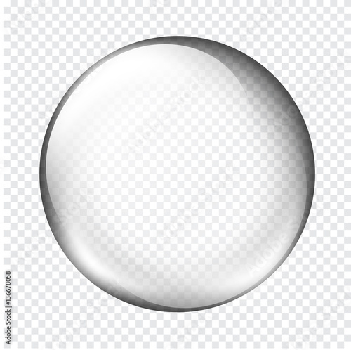 Fotografía  white transparent glass sphere with glares and highlights