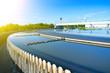 Leinwanddruck Bild - Modern urban wastewater treatment plant.