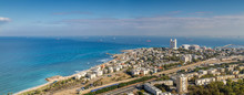 View Of The Mediterranean Sea And Haifa, Israel