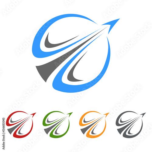 Fototapeta global travel , tour vector logo design
