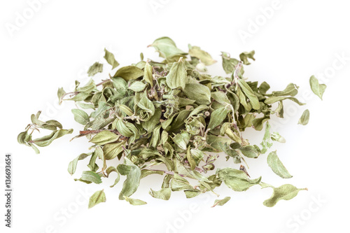 Dried thyme isolated on white background