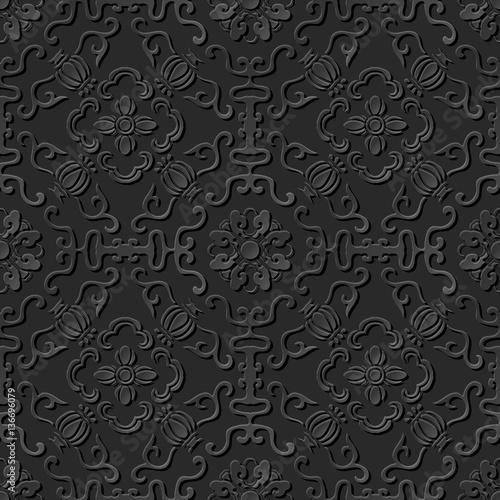 3d-sztuki-papieru-wzor-okragly-rama-spiralna-kwiat
