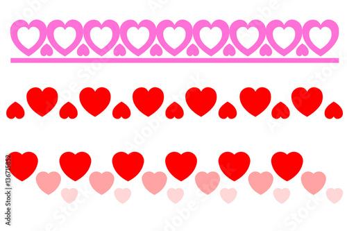 border heart love card design confession feeling