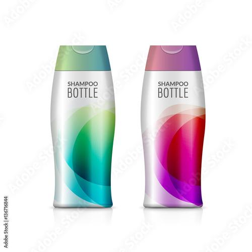 Fotografie, Obraz  Shampoo plastic bottle or shower gel bottle template design
