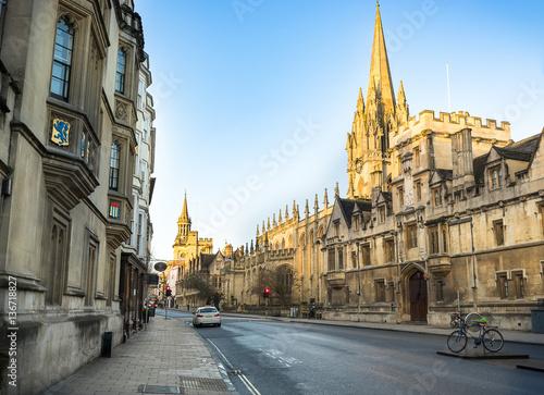 Fotobehang Praag Street of city Oxford