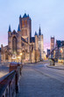 canvas print picture - the towers of Ghent