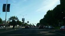 Los Angeles City Summer Day Road Trip Street View Panorama 4k California Usa