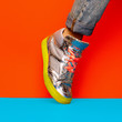 Leinwanddruck Bild - Fashion Sneakers Disco Minimal Style