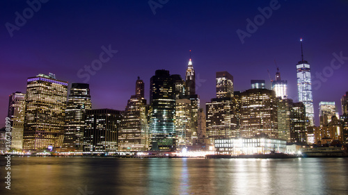 Spoed Foto op Canvas Bruggen Famous Manhattan island cityscape in New York