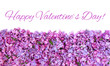 Decorative greeting Card with text Happy Valentine's Day.
