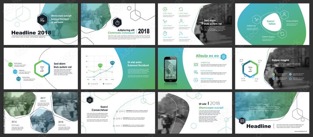 Fototapeta Elements for infographics and presentation templates.